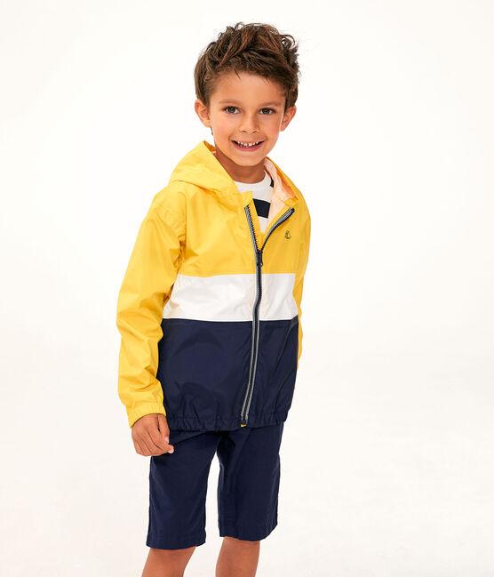 Coupe-vent court enfant garcon jaune Jaune / blanc Multico