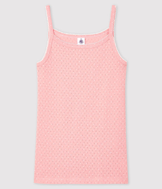 Chemise à bretelles fantaisie Femme rose Charme / blanc Ecume