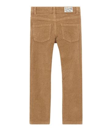 Pantalon garçon en velours