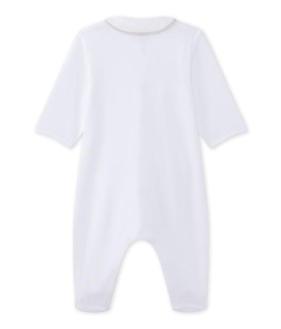 Dors-bien bébé mixte en velours blanc Ecume