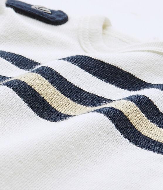 Combicourt bébé garçon manches courtes blanc Marshmallow / blanc Multico
