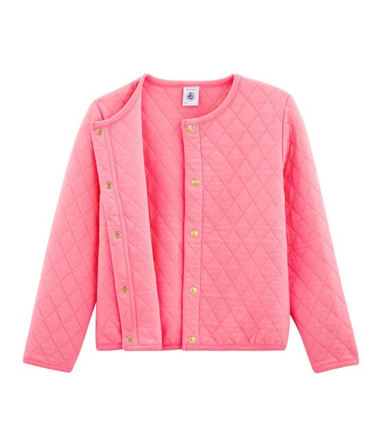 Cardigan enfant fille rose Cupcake