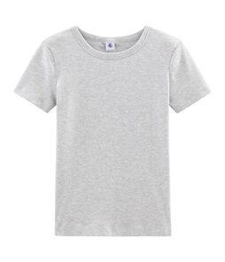 Tee shirt manches courtes iconique femme gris Beluga