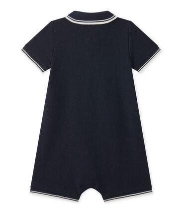 Combinaison courte bébé garçon en jersey piqué