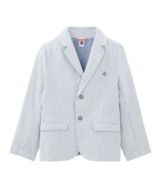 Veste enfant garçon bleu Fontaine / blanc Marshmallow