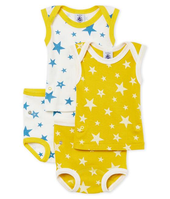 Duo de bodies-culottes 2 en 1 bébé garçon lot .