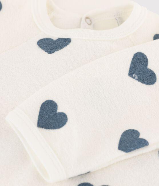 Dors-bien bébé bouclette éponge grattée extra chaude blanc Marshmallow / bleu Astro
