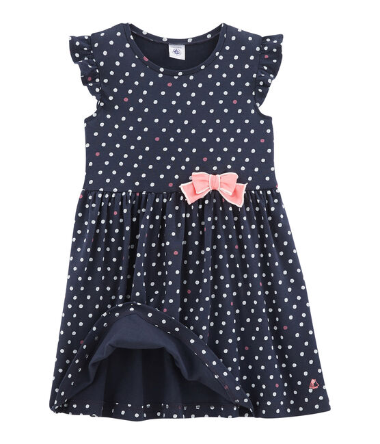 Robe enfant fille bleu Smoking / blanc Multico
