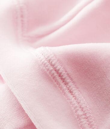 Bonnet naissance bébé mixte velours rose Vienne