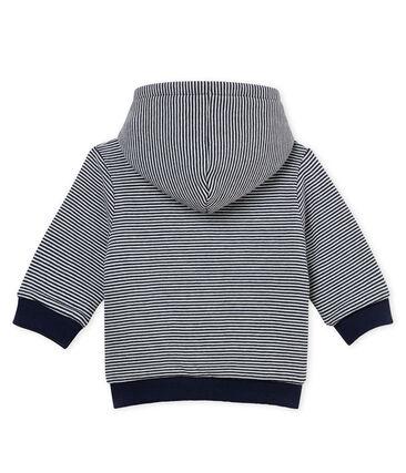 Sweatshirt à capuche ouatine bébé garçon rayé