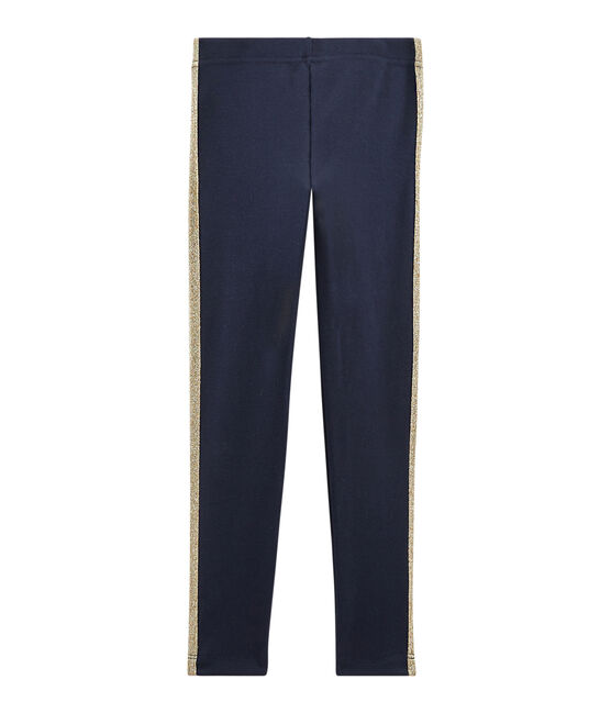 Pantalon maille enfant fille bleu Smoking