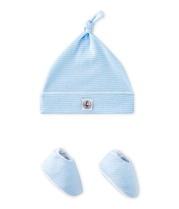 Ensemble bonnet de naissance + chaussons bébé