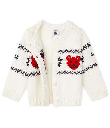 Cardigan bébé mixte blanc Marshmallow / blanc Multico