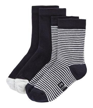 Lot de 2 paires de chaussettes enfant mixte