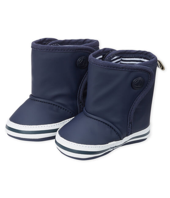 Chaussons bottes de pluie bébé bleu Smoking