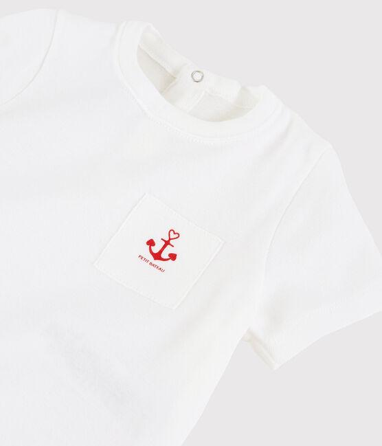 Tee-shirt bébé fille blanc Ecume