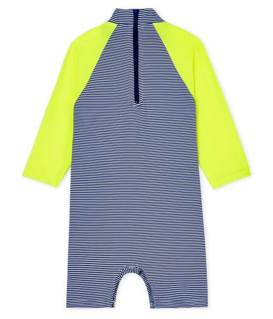 Combinaison écoresponsable bébé fille/garçon bleu Surf / blanc Marshmallow