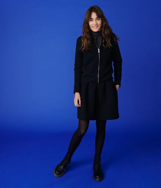 Veste cardigan réversible Femme NOIR/ARGENT