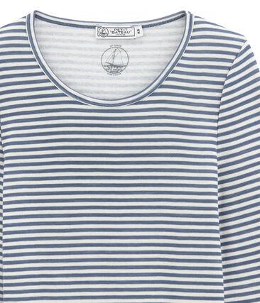 Tee shirt manches longues coton et laine pour femme