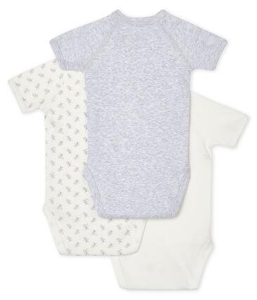 Trio de bodies naissance manches courtes bébé lot .