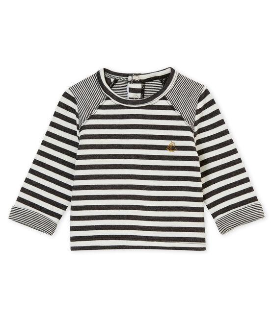 tee-shirt rayé bébé garçon noir City / blanc Marshmallow