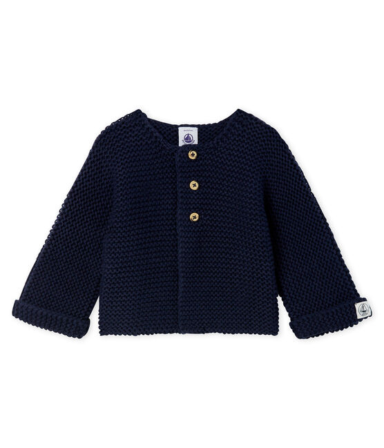 Cardigan laine et coton point mousse bébé fille SMOKING