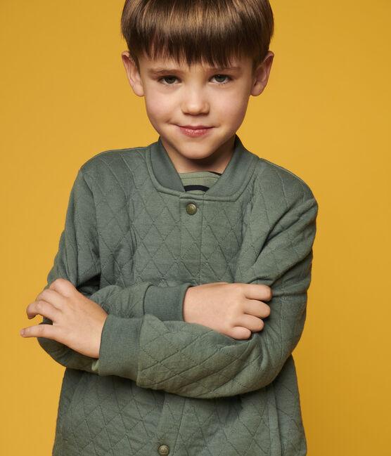 Cardigan esprit teddy en tubique enfant garçon vert Vallee