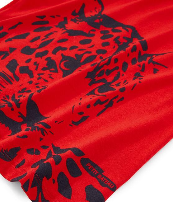 Tee-shirt enfant garcon rouge Terkuit
