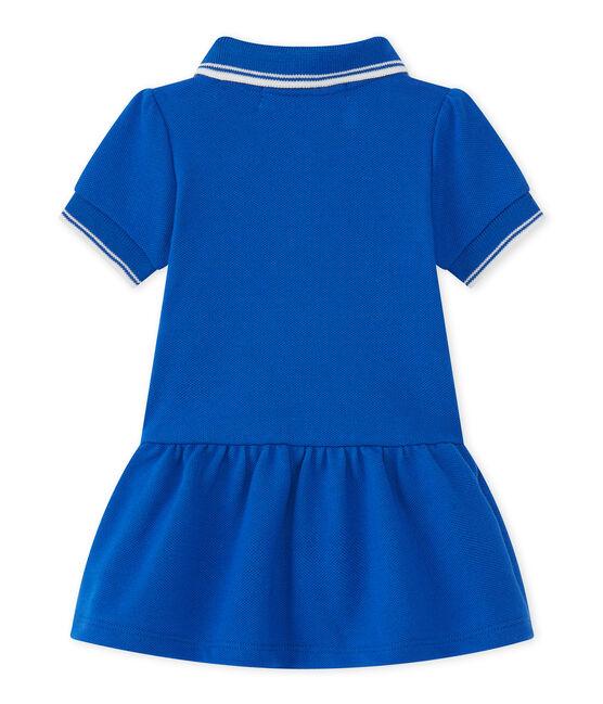 Robe bébé fille bleu Perse