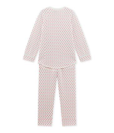Pyjama fille imprimé blanc Lait / blanc Multico