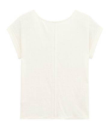 Tee-shirt manche courte femme blanc Lait