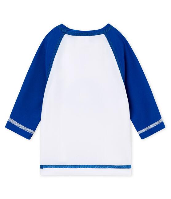 Tee-shirt anti-UV UPF 50+ bébé garçon/bébé fille blanc Marshmallow / bleu Riyadh
