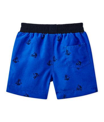 Short de plage bébé garçon imprimé bleu Perse / bleu Smoking