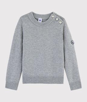 Pull en laine et coton enfant gris Subway