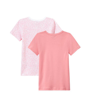 Lot de 2 t-shirts fille manches courtes lot .