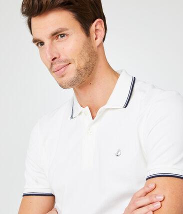 Polo manches courtes homme blanc Marshmallow