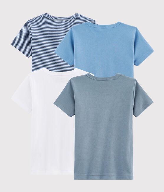 Pochette surprise de 4 Tee-shirts manches courtes garçon lot .
