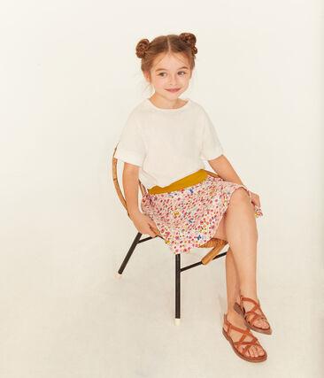 Tee-shirt à manches courtes enfant fille blanc Marshmallow