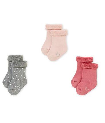 Lot de trois paires de chaussettes bébé mixte