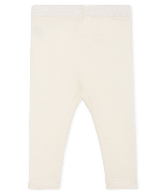 Caleçon bébé en laine et coton blanc Marshmallow Cn