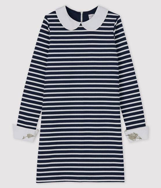 Robe Femme Petit Bateau x Deyrolle bleu Smoking / blanc Marshmallow