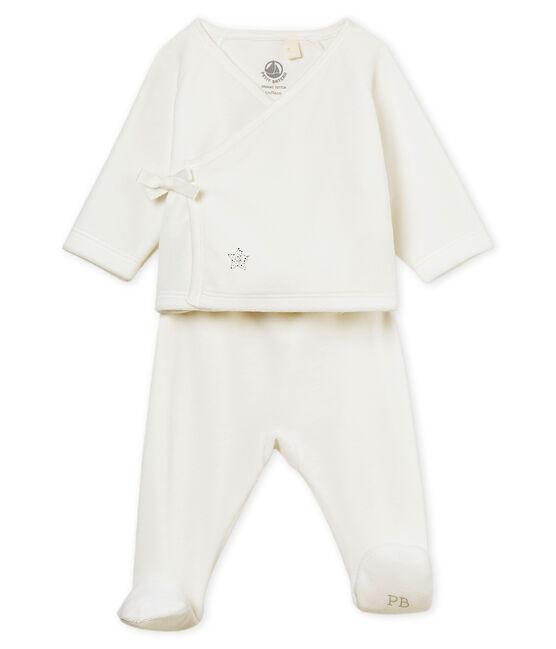 Ensemble naissance bébé mixte blanc Marshmallow