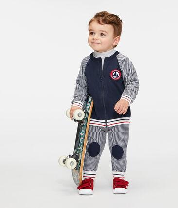 Cardigan zippé bébé garçon en tubique