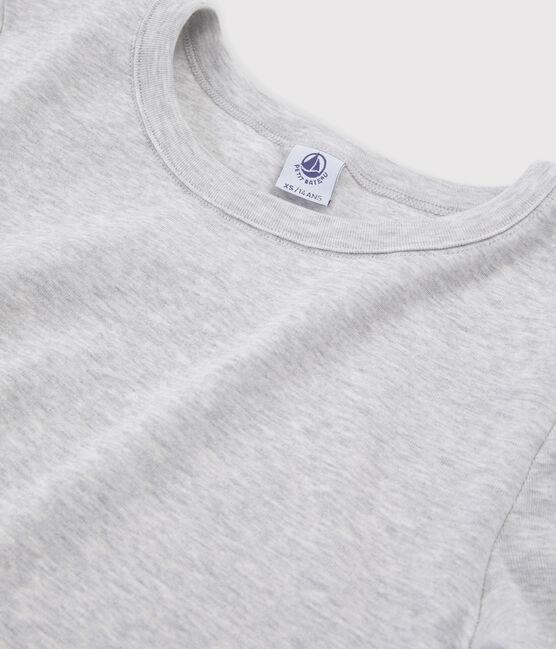 T-shirt iconique col rond Femme gris Beluga
