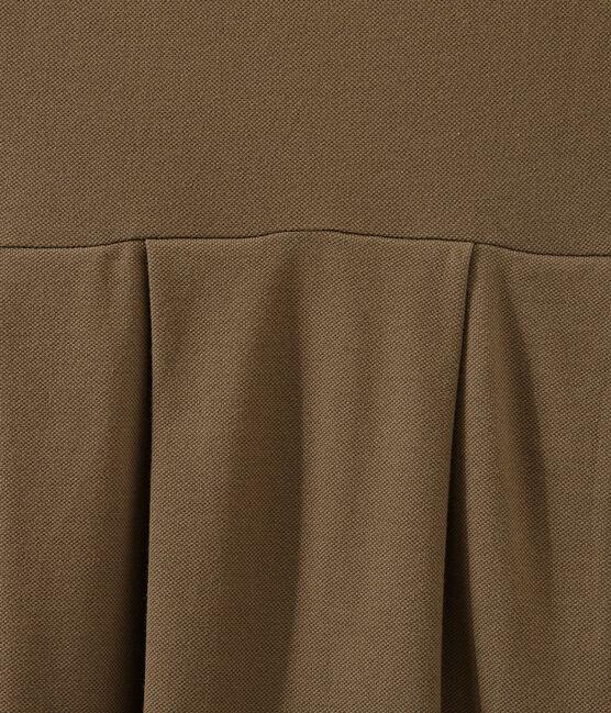 Robe femme inspirée du polo marron Shitake