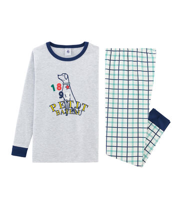 Pyjama petit garçon coupe très ajustée en côte
