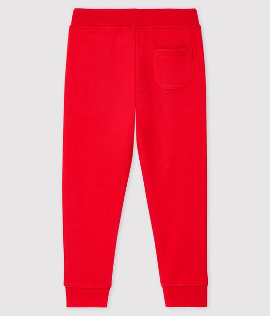 Pantalon de jogging en molleton enfant garçon rouge Terkuit