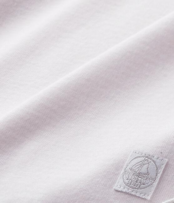 Drap bébé mixte rayé milleraies rose Vienne / blanc Ecume