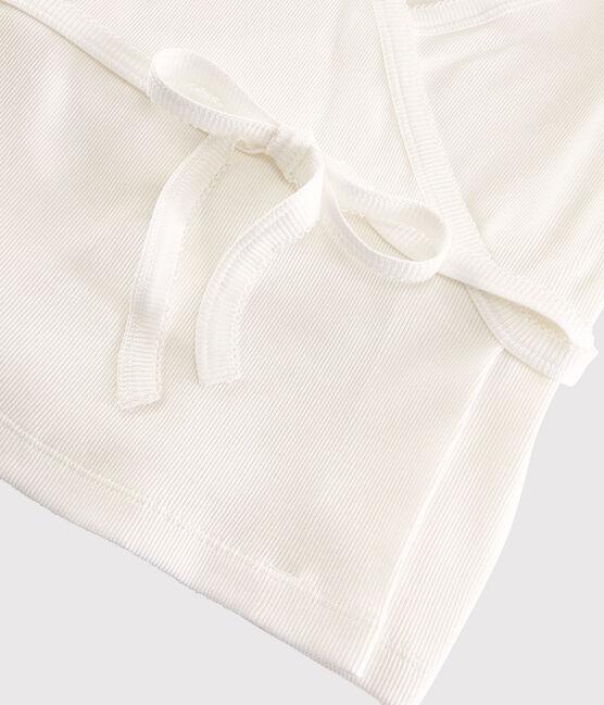 Cardigan cache-cœur en coton léger Femme blanc Marshmallow