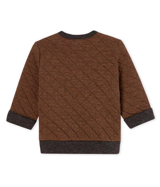 Sweatshirt bébé garçon en tubique pied-de-poule noir City / marron Cocoa